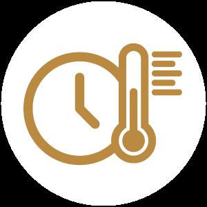 7. Cottura a 48 – 52 °C e maturazione della cagliata (5-8 ore)